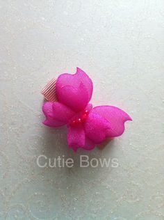 Hot pink padded butterfly croc clip - The Supermums Craft Fair