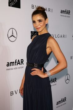 Noblesse et Royautés:  Clotilde Courau, Princess of Venice, attended the Amfar gala in Milan, Italy, September 20, 2014