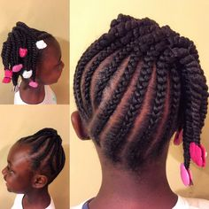 Braided pin-up with two strand twists and Sweet Pea and Little Lady GaBBY Bows! Braided pin-up with two strand twists and Sweet Pea and Little Lady GaBBY Bows! Natural hair styles for black girls / Girl hairstyles / Barrette hairstyles Lil Girl Hairstyles, Black Kids Hairstyles, Natural Hairstyles For Kids, Kids Braided Hairstyles, My Hairstyle, Hairstyles 2016, Hairstyle Photos, Girls Hairdos, Princess Hairstyles