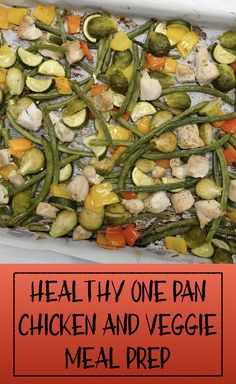 HEALTHY ONE PAN CHICKEN AND VEGGIE MEAL PREP #healthyeating #mealprep #macromeals #health