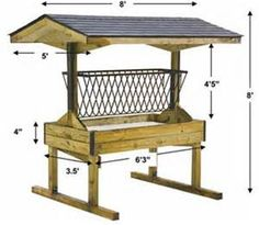 Amish Hay Feeder http://pinterest.com/pin/54395107970616249/