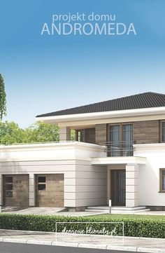 Would you add this to your garage? Two Story House Design, Duplex House Design, Dream Home Design, Villa Design, Facade Design, Exterior Design, Sims House Plans, Modern House Plans, Plans Architecture