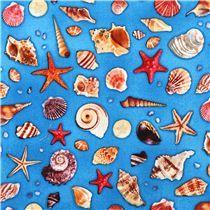 maritime shell ocean fabric Children of the Sea  Elizabeth's Studio