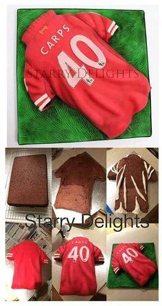 Soccer t-shirt cake Cakes For Women, Cakes For Boys, Cupcakes, Cupcake Cakes, Cupcake Ideas, Fondant Cakes, Cake Pops, Foundant, Shirt Cake