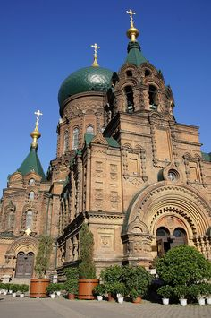 St Sophia    		The 1907 Russian Orthodox Church of St Sophia in Harbin, China.