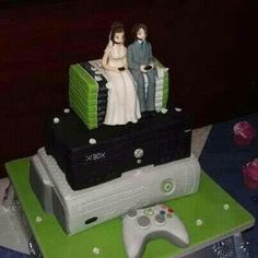 I want the Playstation Version of this as My wedding cake! <3
