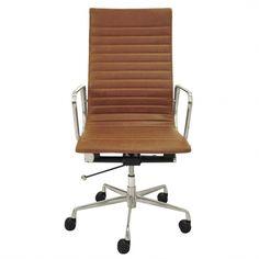Langley High Back Office Chair, Vintage Tawny | Memoky.com