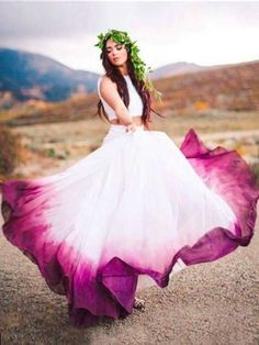 Two Pieces Ombre Prom Dress A-line loor Length Simple Cheap Prom Dresses Long Evening Dress - Wedding dresses - Hochzeitskleid - New Ideas Ombre Prom Dresses, Cheap Prom Dresses, Dresses Dresses, Ombre Gown, Long Dresses, Dress Prom, Colorful Wedding Dresses, Dip Dye Dresses, Unusual Wedding Dresses