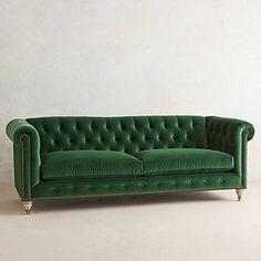 one day ill own a green velvet sofa Velvet Lyre Chesterfield Sofa, Wilcox Green Velvet Sofa, Boutique Deco, Tufted Sofa, Velvet Chesterfield Sofa, Wood Wallpaper, Sofa Furniture, Furniture Design, Green Furniture, Plywood Furniture