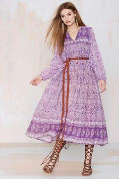 Blue Premonition Paisley Dress -