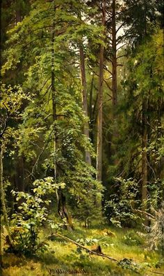 The Athenaeum - A Forest (Ivan Ivanovich Shishkin - )