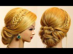 Плетение ажурной косички на длинные волосы. Braided hairstyle - YouTube