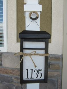 Lantern Display DIY House Number
