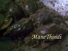 Pure Veg Recipes from ManeThindi!: BADNEKAYI ENNEGAYI(STUFFED EGGPLANT)