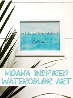 Moana Inspired Art