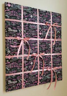 Paris memo board memory board vision board by MemoBoardsNMore Fabric Pin Boards, Ribbon Boards, Cork Board Projects, Craft Projects, Diy Memo Board, Bulletin Board, Fabric Corkboard, Crafts To Do, Diy Crafts