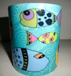 Whimsical Coffee/Tea Fish Mug by michelewithasingleL on Etsy, $12.00