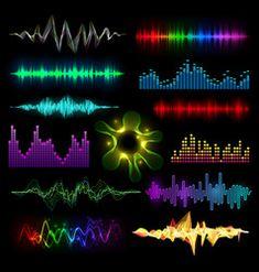 Digital music equalizer audio waves set vector image on VectorStock Background Wallpaper For Photoshop, Green Background Video, Desktop Background Pictures, Banner Background Images, Background Images For Editing, Animation Background, Everton, Dj Images, Whatsapp Background