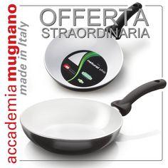 Due stupende padelle con rivestimento ceramico della linea Natural Chic in offerta fino al 30Luglio su accademiamugnanostore.com