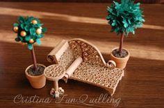 Miniature furniture quilled