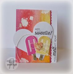 The Stamping Scrapbooker (Amber Hight): Reverse Confetti stamp set: Let's Chill. Confetti Cuts: Let's Chill and Love Note. Valentine's card. Anniversary card.