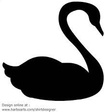 swan silhouette - Google Search