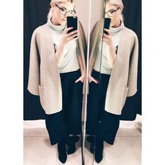 Choose The Not-So-Obvious Reflection While the straight-on whole-body picture may seem like the obvious way to share your oversized cardigan with the world, try capturing your style in a reflective surface that's not just your bedroom full-length. Play with dressing-room mirrors that bend or curve, or multiple surfaces that make you into multiples.
