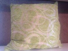 Vankúš dekoračný 40x40 cm, zelený s hnedým vzorom