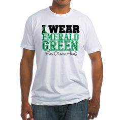 Custom I Wear Emerald Green Liver Cancer Shirts #livercancerawareness