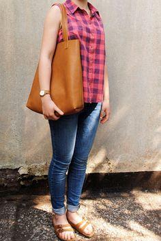 Ledershopper | Handmade leather Shopper | Leather bag | june-shop
