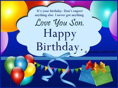 Birthday Wishes For Facebook For Son