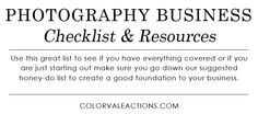 The Best Photography Checklist