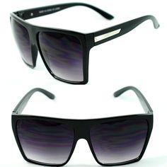 Womens Oversized Diva Huge Square Traperzoid Super Flat Top Celebrity  Sunglasses 2b6dae4c81