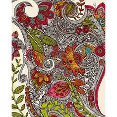 Art Journal Doodling | Art journal / Floral Doodle Art
