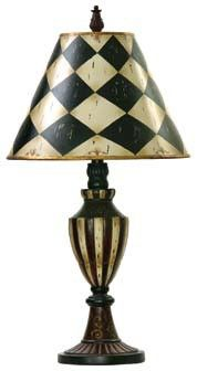 Hey Look What I found at Lighting New York Dimond Lighting Harlequin And Stripe Urn 29 inch 150 watt Black / Antique White Table Lamp Portable Light in Incandescent Decor, Striped Table, White Urn, Painted Furniture, Black Table Lamps, Table Lamp, Home Decor, White Table Lamp, Elk Home