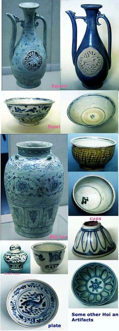Vietnamese blue and white and enamelled wares