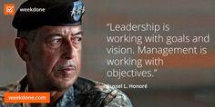 Retired Lieutenant General Russel L. Honoré on leadership. #goals #objectives #management #motivational #quotes