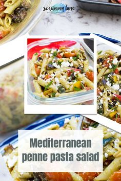 Looking for an interesting make ahead lunch option that's nutritious, filling, and easy – and that isn't a sandwich? Then this meal prep Mediterranean penne pasta salad is for you! Easy Pasta Recipes, Healthy Recipes, Penne Pasta Salads, Midweek Meals, Make Ahead Lunches, Lunch Meal Prep, One Pot Meals, Food To Make, Celebration