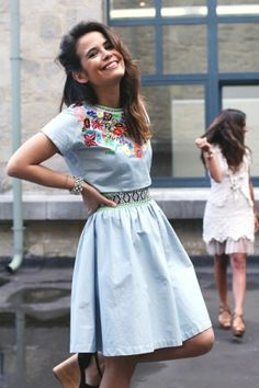 Mexican Dress by Aida Ines.  I sew want to make this, this summer.