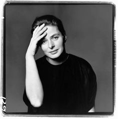 Ingrid Bergman, actor, New York, February 4, 1961   Copyright © 2008 The Richard Avedon Foundation