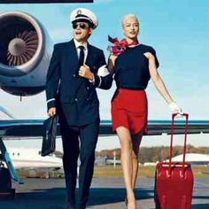 Vintage flight attendant