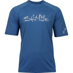 Iconic Aqua Shirt Rashguard - Tops - Mens