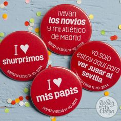 We <3 chapas! #bodas #chapas