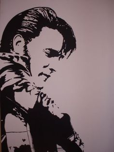Original Acrylic Painting Of Elvis Presley On 30X40inch Canvas For Sale $250.00 if intrested contact me at jaktwistt@yahoo.com