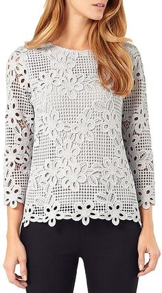 Phase Eight Marin Crochet Lace Blouse
