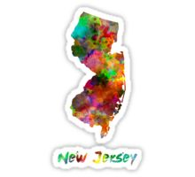 New Jersey US state in watercolor Sticker