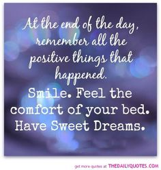 Sweet Dreams - The Daily Quotes