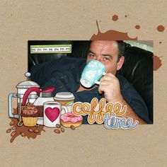 Fun digital scrapbook page created with 'Coffee & Cupcakes' digital scrapbooking kit by Kate Hadfield Designs   ideas for scrapbook pages   layout by Creative Team member Kirstie. Click for more scrapbook pages created with this kit!