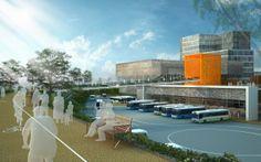Adajan Terminal,  bus terminal design by Space Matrix Design Exterior 1