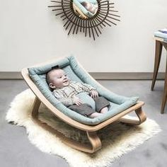 A quality baby rocker is a must have for all babies in their first few months. The perfect place for your little one to relax for a while. The design naturally allows the rocker to follow the soft movements of babies. These super stylish LEVO rockers from Charlie Crane will complement your stylish home perfectly and are suitable for babies up to approximately 7 months. Available in a selection of colours and finishes. Dimension of the baby rocker: (H40 x L70 x W45 cm.) (H16 x L28 x W18 in.)…